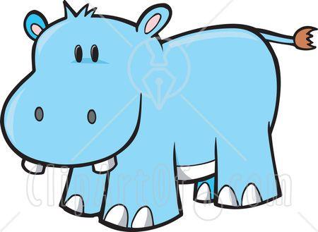Clipart hippo blue hippo. Cute animal clip art