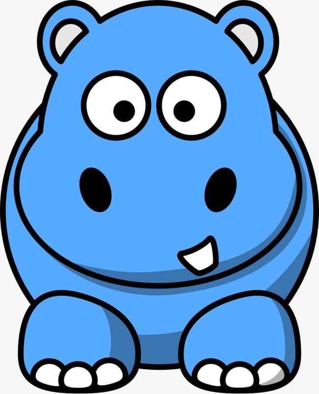 . Clipart hippo blue hippo