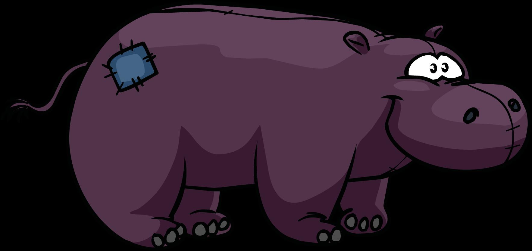 Club penguin wiki fandom. Hippopotamus clipart purple