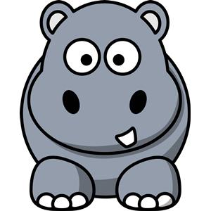 clipart hippo carton