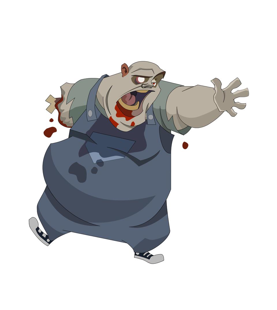 Clipart hippo character. Design todd bright artist
