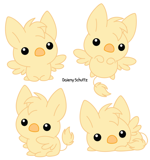 Griffin by daieny deviantart. Orca clipart chibi