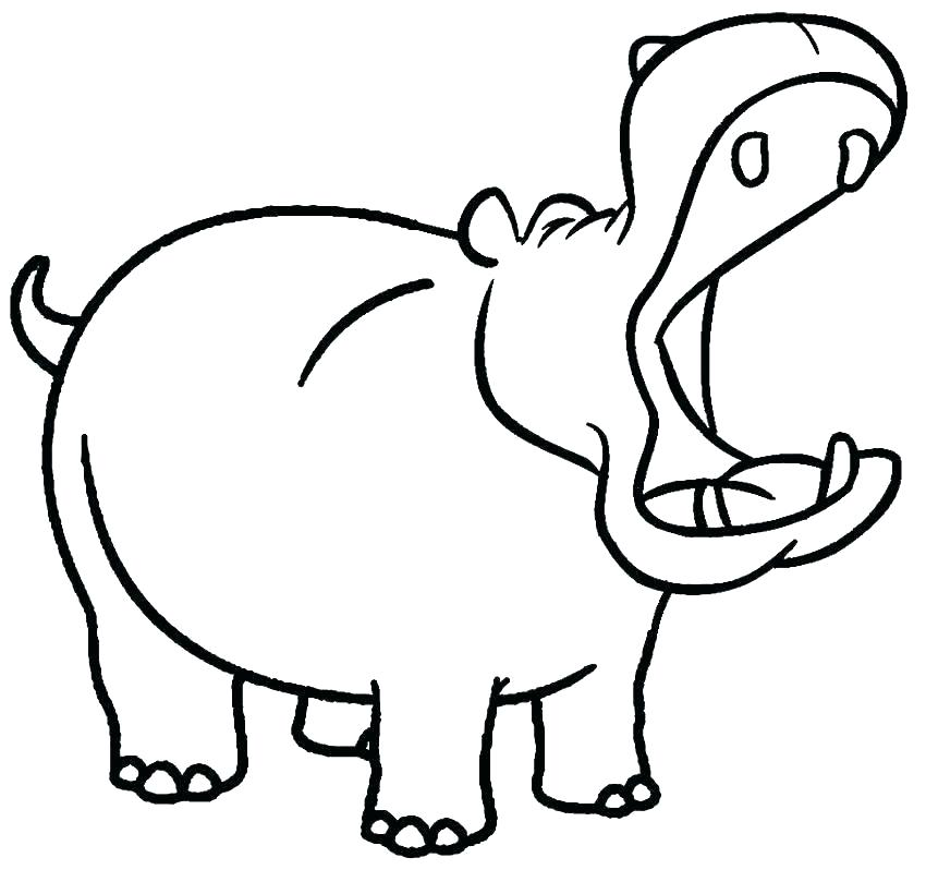 Collection of free download. Clipart hippo coloring