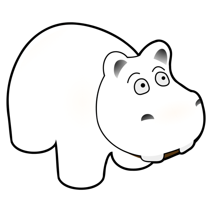 clipart hippo coloring
