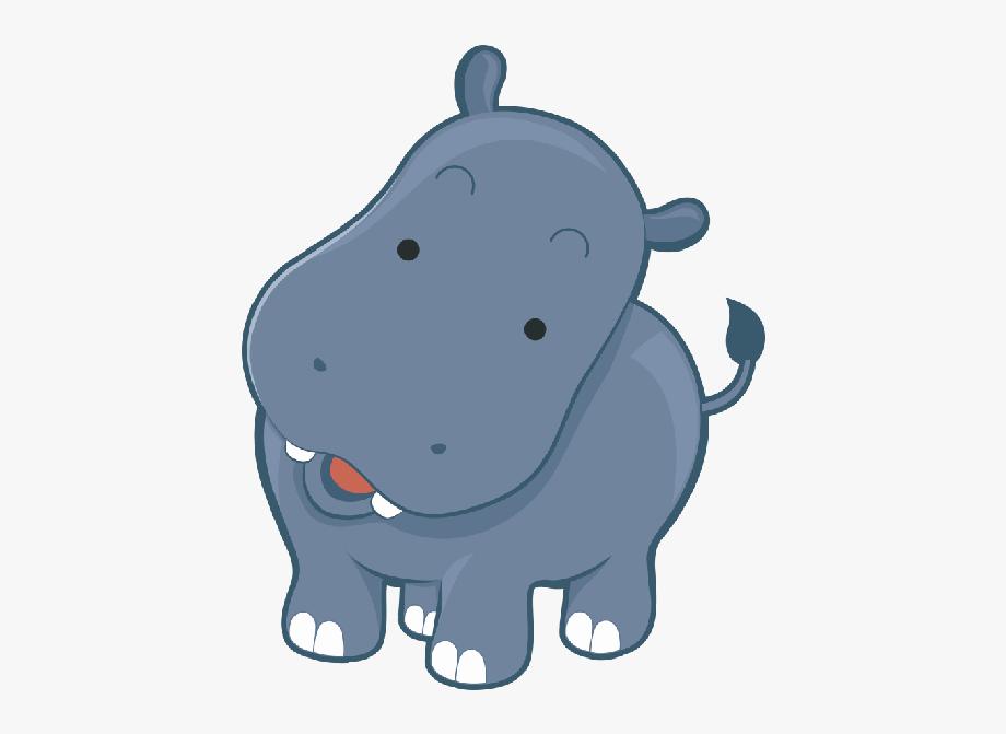 Colour cute free cliparts. Hippo clipart swimming