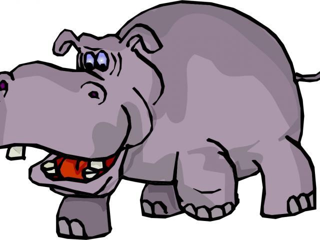 clipart hippo comic
