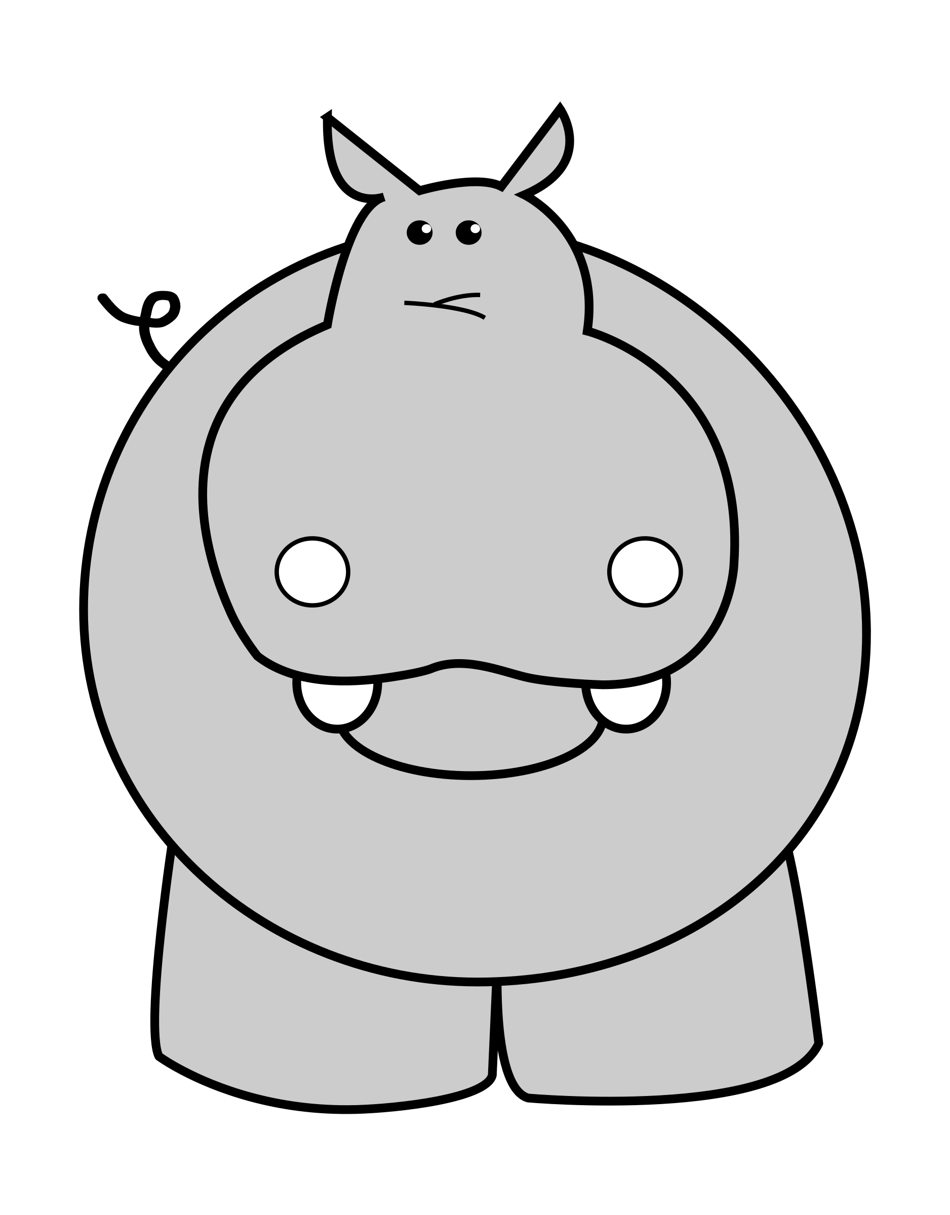 Big image png. Clipart hippo cool