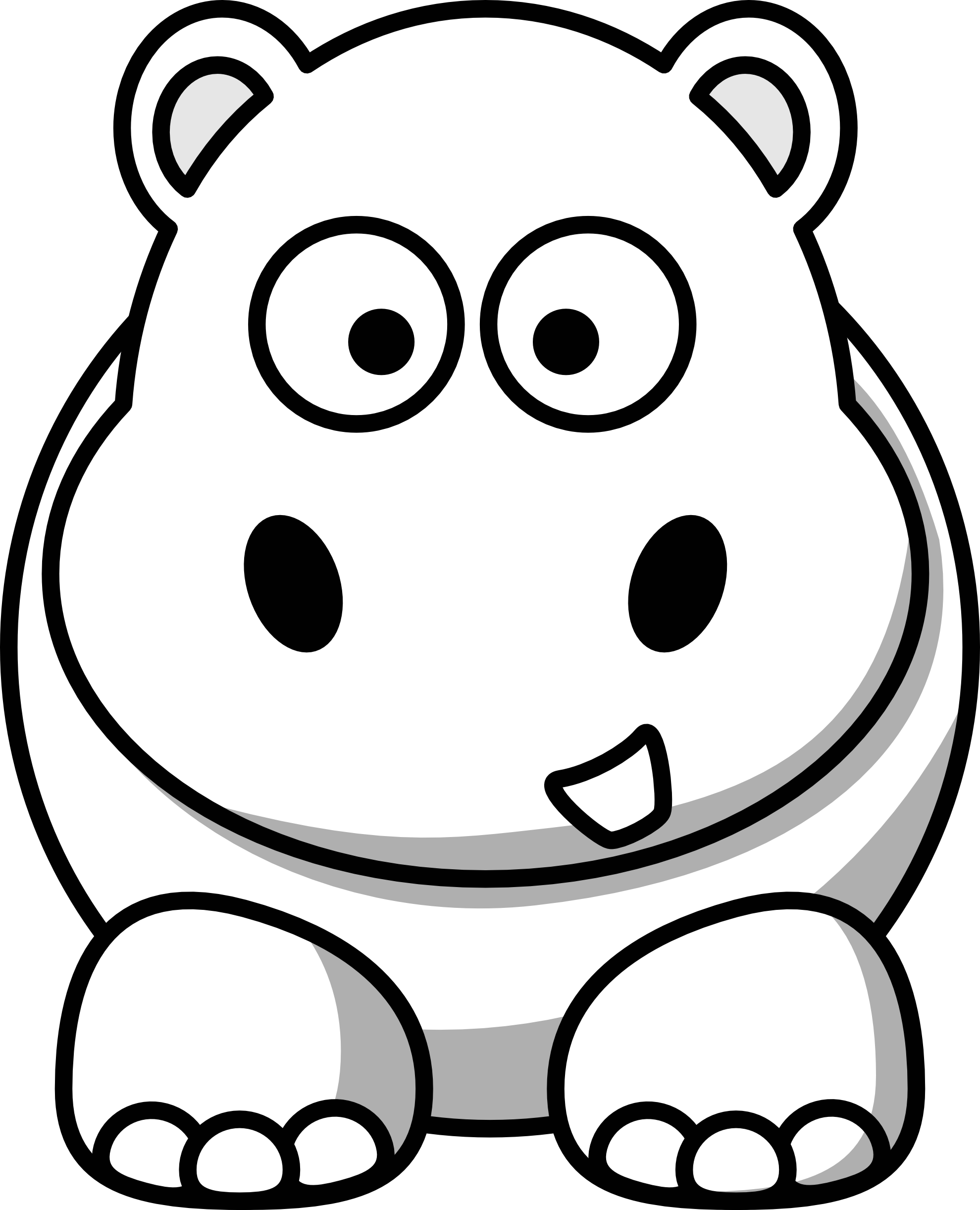 Clipart hippo cool. Clip art black and