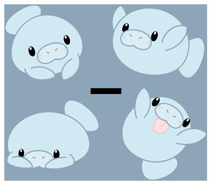 Manatee clipart dugong. Cute drawing at getdrawings