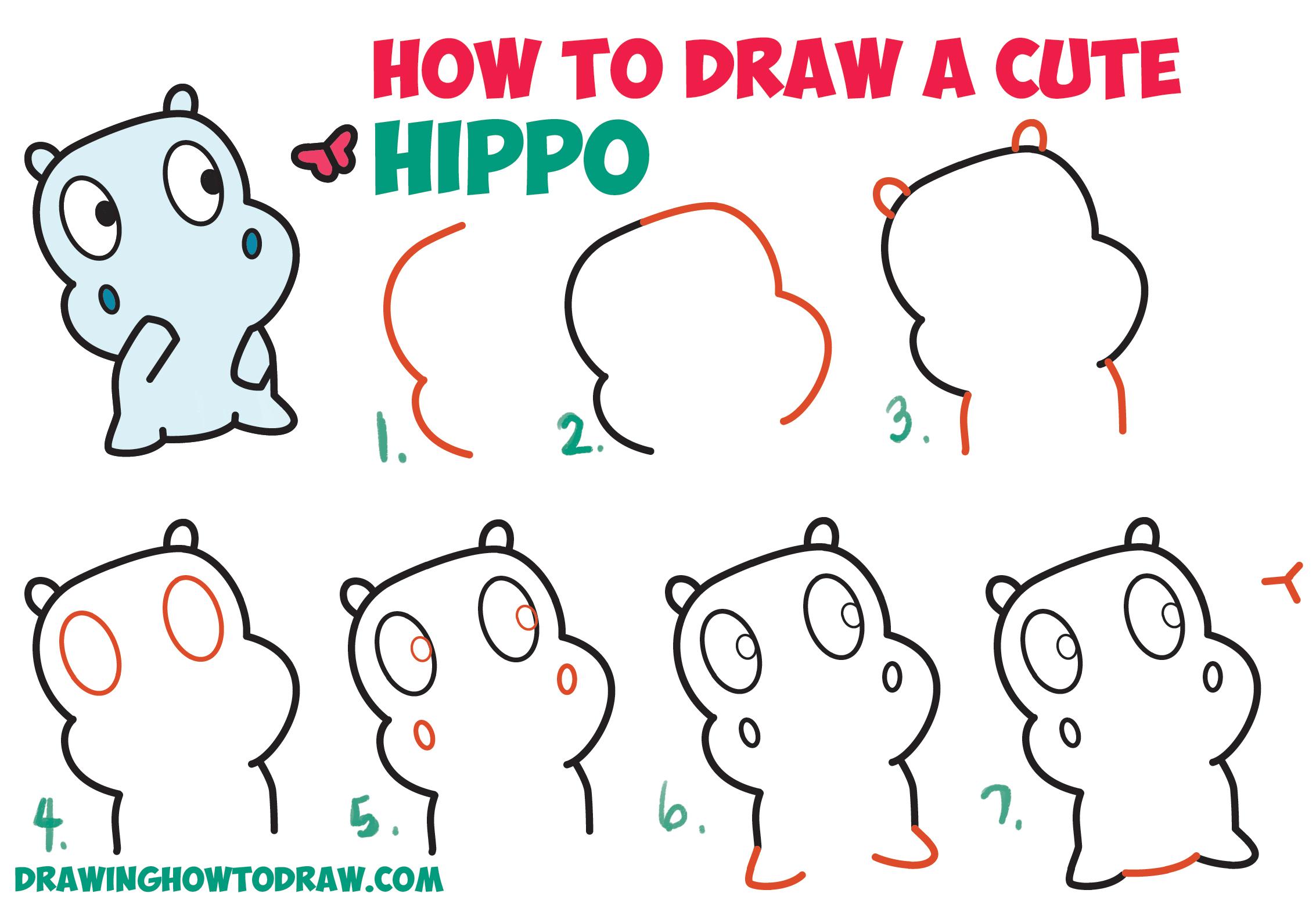 Clipart hippo cute anime. Drawn x free clip