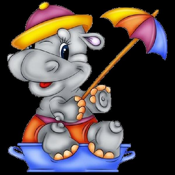 Hippopotamus cartoon clip art. Clipart hippo dancing