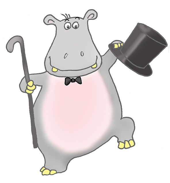 Kid hippos for a. Clipart hippo dancing