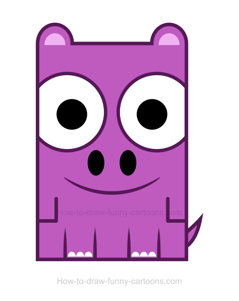 . Hippo clipart drawn