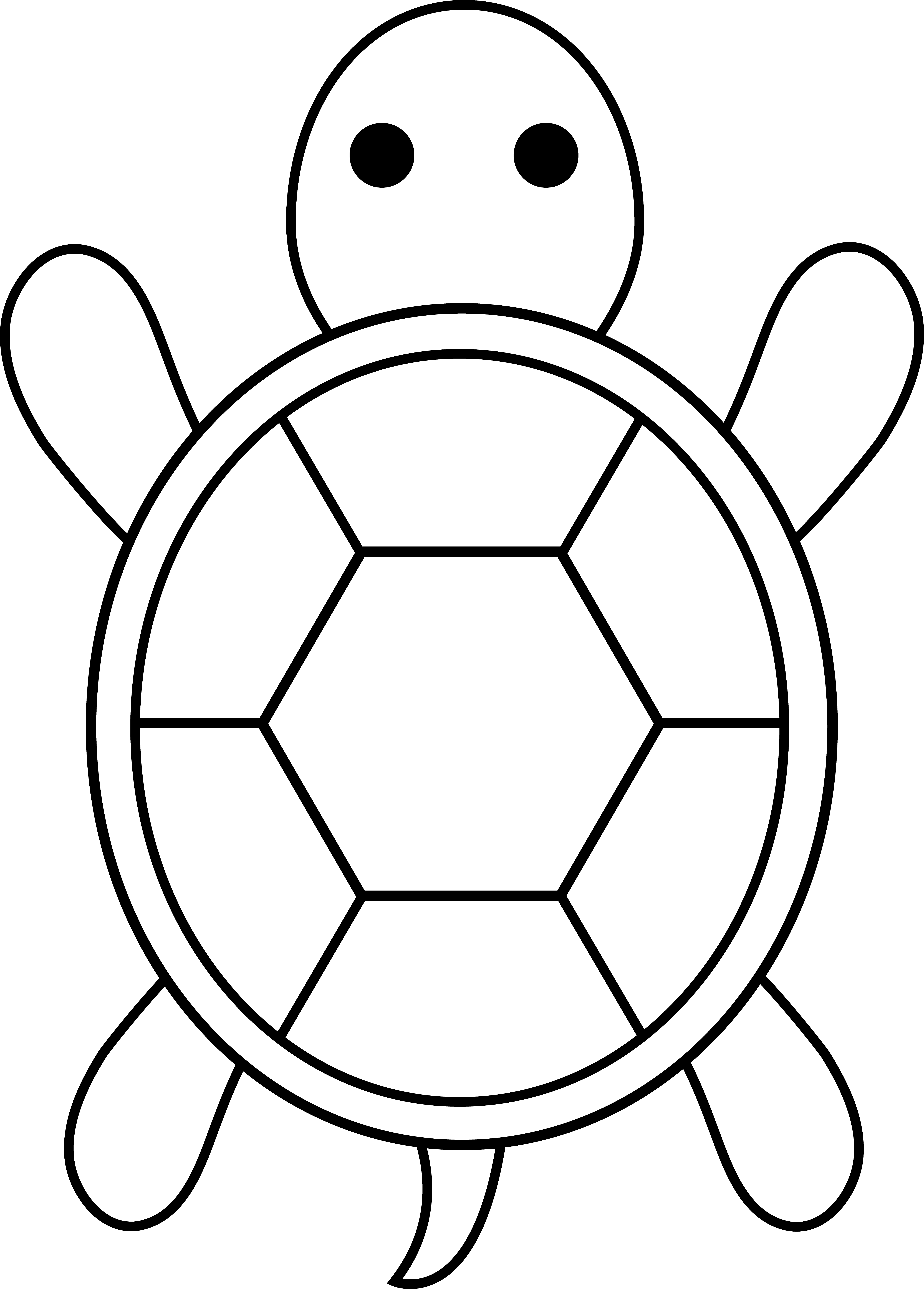 E clipart elephant coloring page. Turtle for applique pinterest