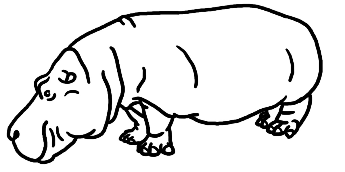 Endangered animals free download. Hippo clipart hippo outline