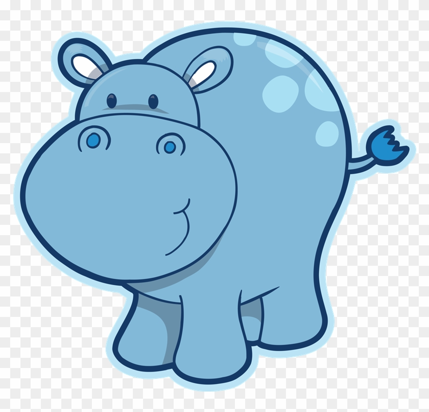 Clip art black and. Hippo clipart real