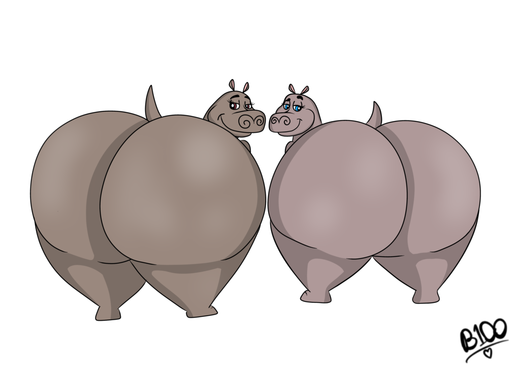 Clipart hippo gloria. Giant butts by boman
