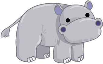 Free hippopotamus cliparts download. Hippo clipart grey