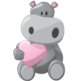 Clip art hippopotamus cartoon. Hippo clipart grey