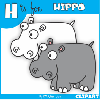 Hippo clipart h be for. Is clip art