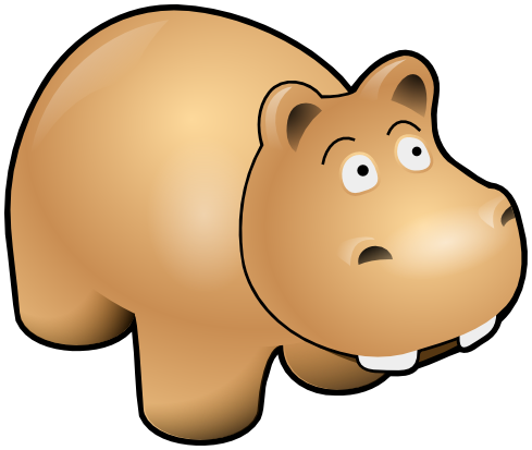 Hippo clipart h be for. Animals hippopotamus png html