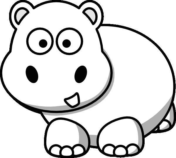 Side outline clip art. Clipart hippo hippo head