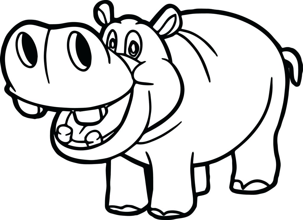 Hippo clipart drawn. Collection of free download