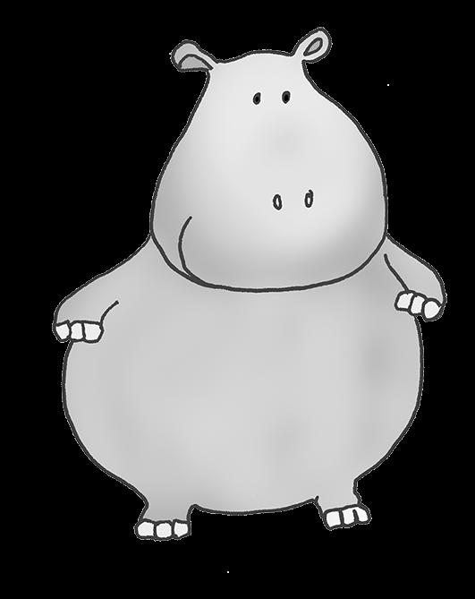 Hippo clipart hippo outline. Page of clipartblack com