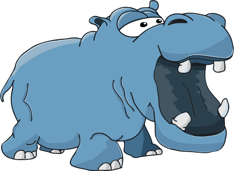 Hippopotamus medium image png. Clipart hippo hippo outline