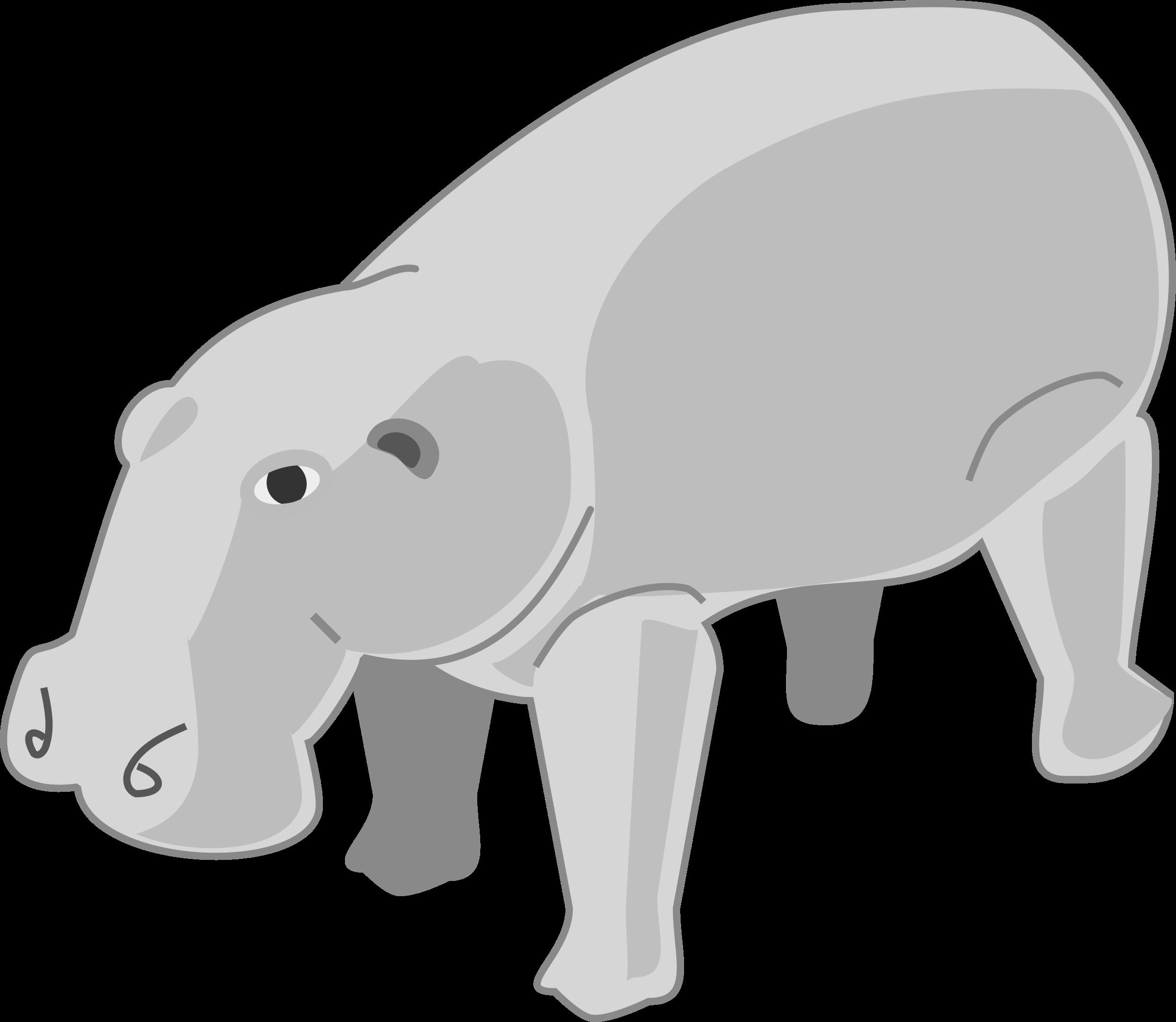 Clipart hippo hippo outline. Hippopotamus clipartblack com rg