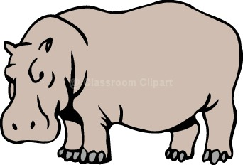 Hippo clipart hippo outline. Black and white md