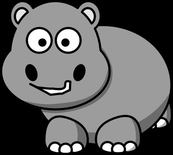Clipart hippo hippo outline. Clipartblack com animal free