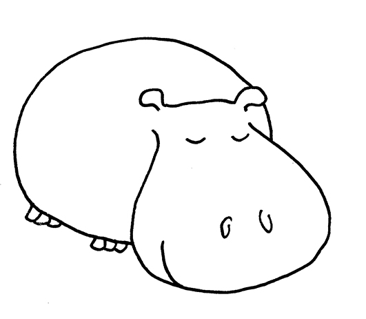 Free cartoon pictures download. Hippo clipart drawn