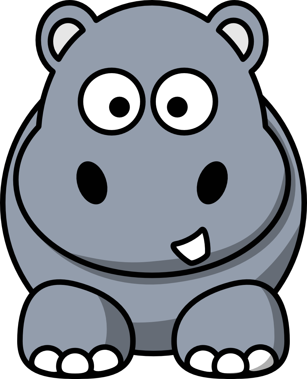 Hippo clipart face. Clip art black and