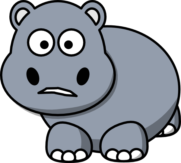 Clipart hippo love. Side clip art at