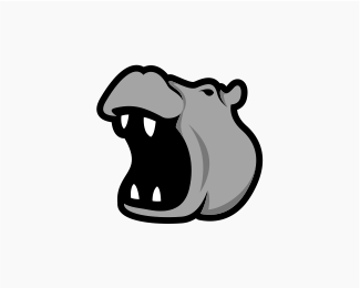 Logo designed by bejombah. Clipart hippo mad