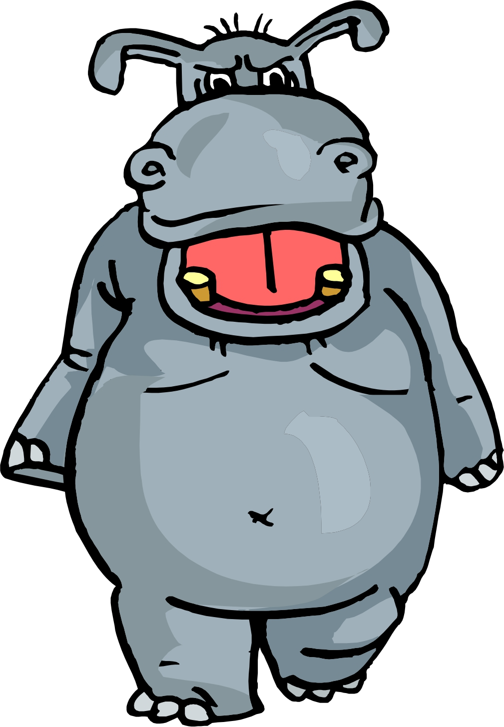 mad clipart hippo