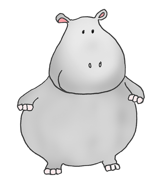 Hippo clipart mouth. Fat cartoon lettering i
