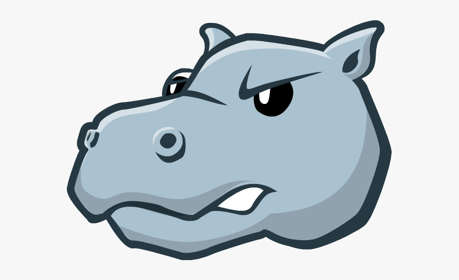 Hippo clipart mouth. Cartoon free cliparts on