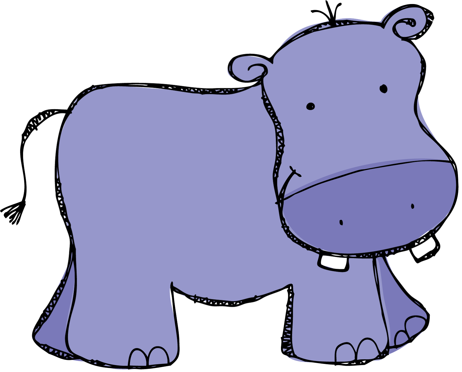 clipart hippo moving