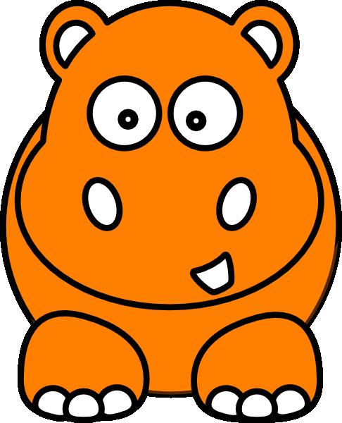 B clip art at. Clipart hippo orange