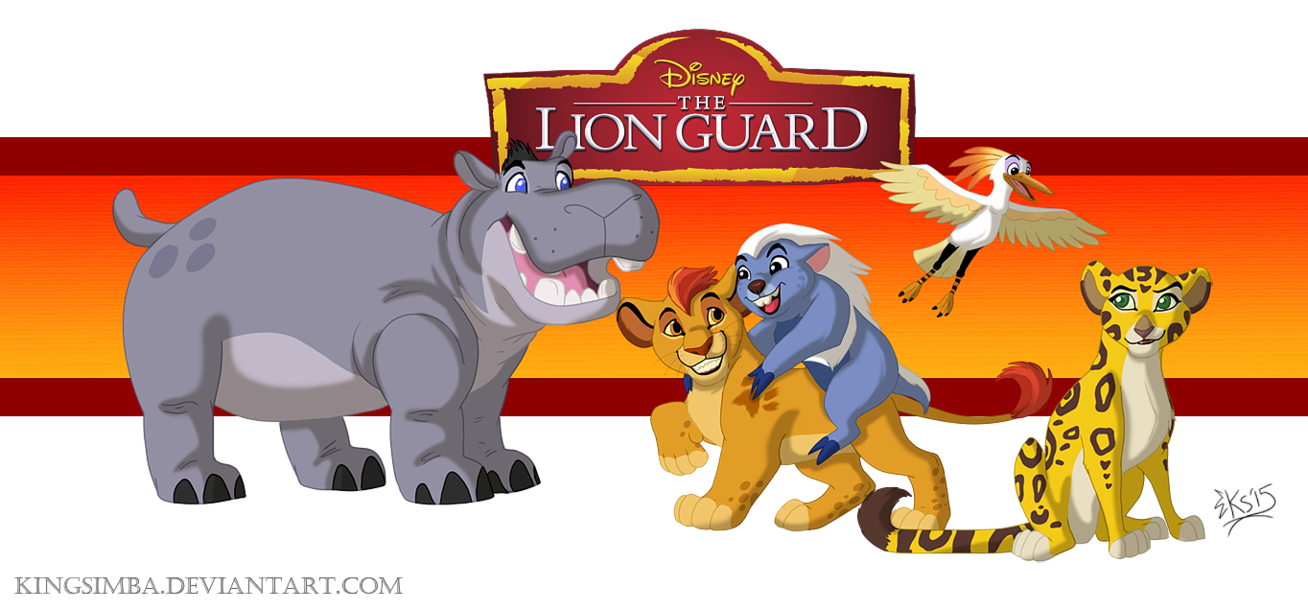 Hippo clipart lion. The guard by kingsimba