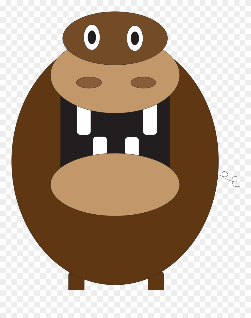 Clipart hippo orange. Clip art png download