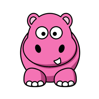 Hippo clipart pink hippo. Free picture download clip