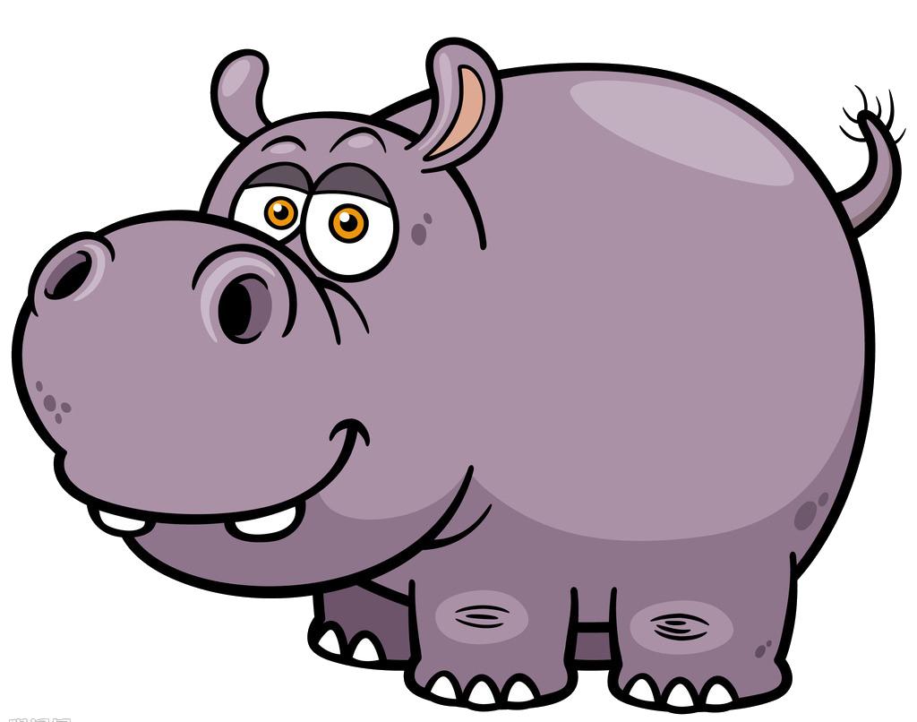 Cartoon royalty free royaltyfree. Hippopotamus clipart hippo head