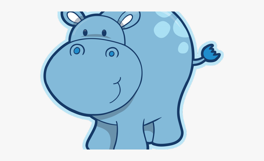 Transparent background png . Hippo clipart cartoon
