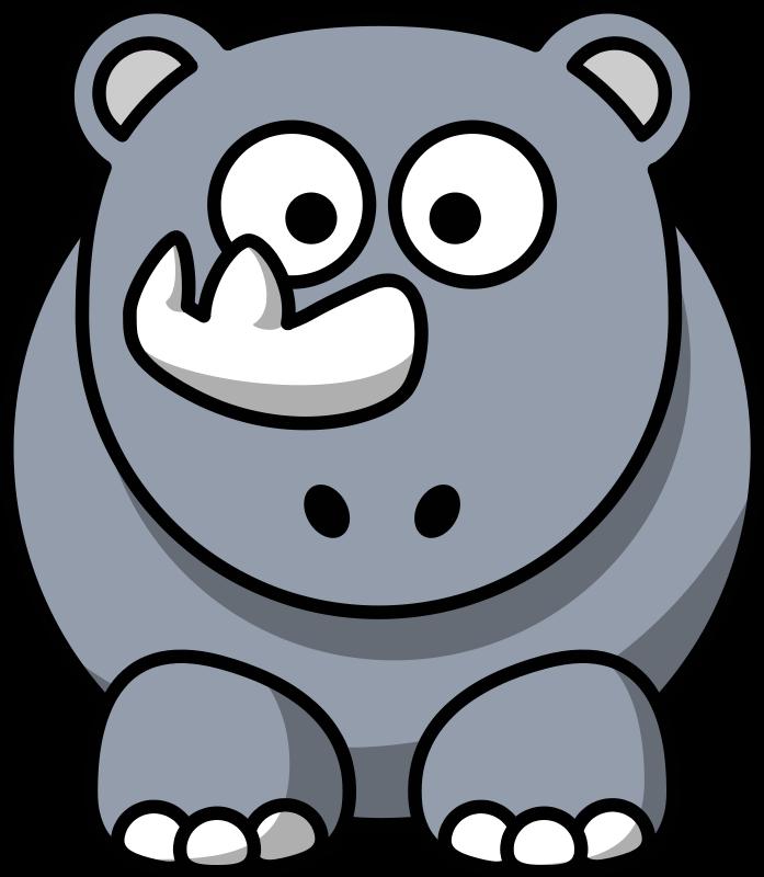 Hippo clipart moving. Rhino panda free images