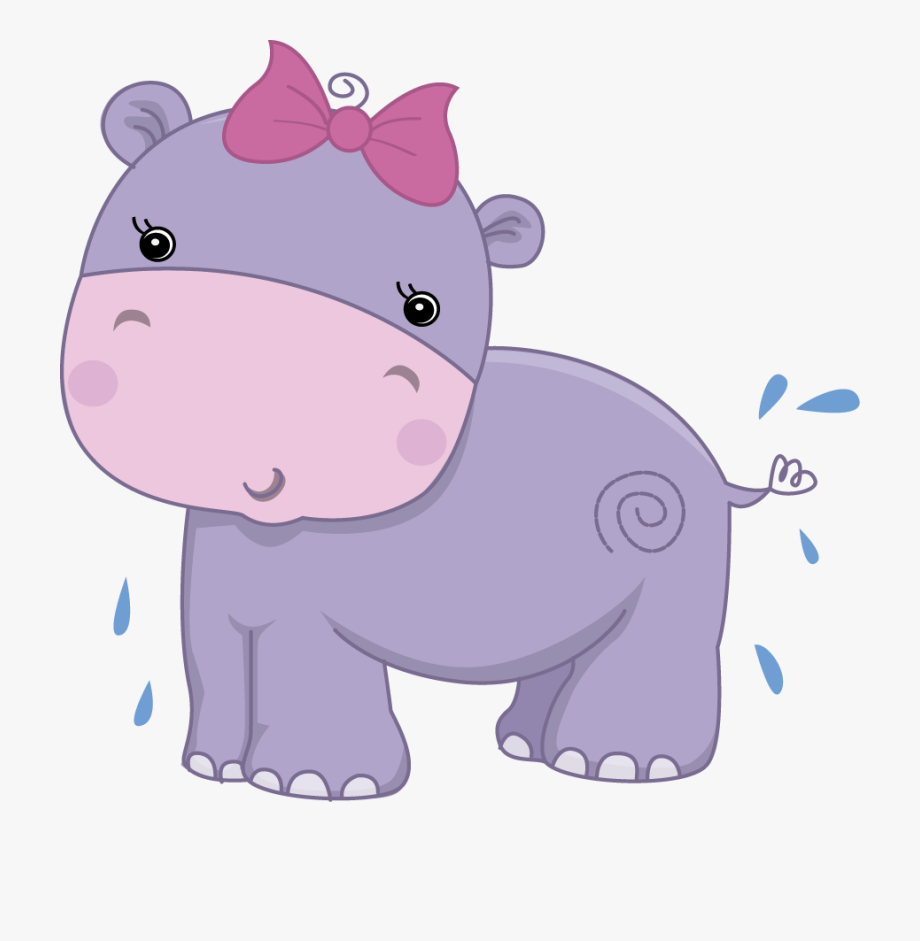 Hippo clipart safari. Transparent pretty pink girly
