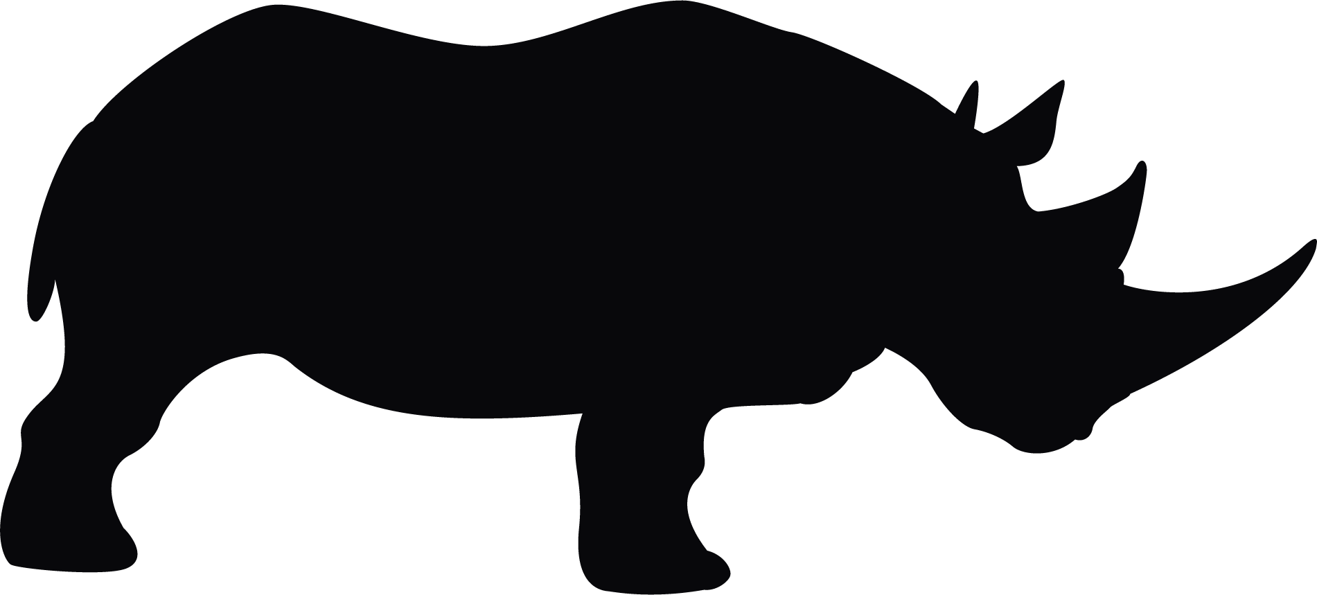 Rhino silhouette at getdrawings. Hippo clipart footprints