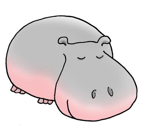 Cartoon . Clipart hippo simple